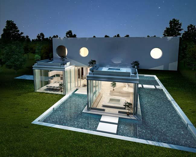 biet thu dep 03 Thiết kế biệt thự đẹp sang trọng với kiến trúc bán mở