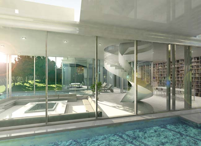 biet thu dep 04 Thiết kế biệt thự đẹp sang trọng với kiến trúc bán mở
