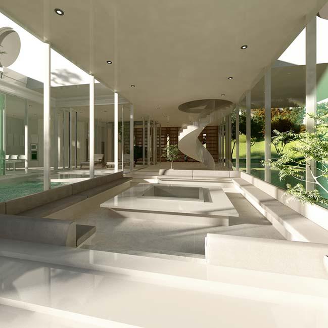 biet thu dep 05 Thiết kế biệt thự đẹp sang trọng với kiến trúc bán mở