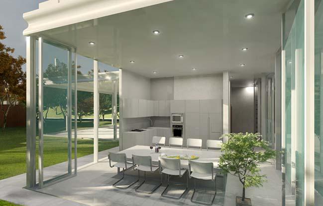 biet thu dep 08 Thiết kế biệt thự đẹp sang trọng với kiến trúc bán mở