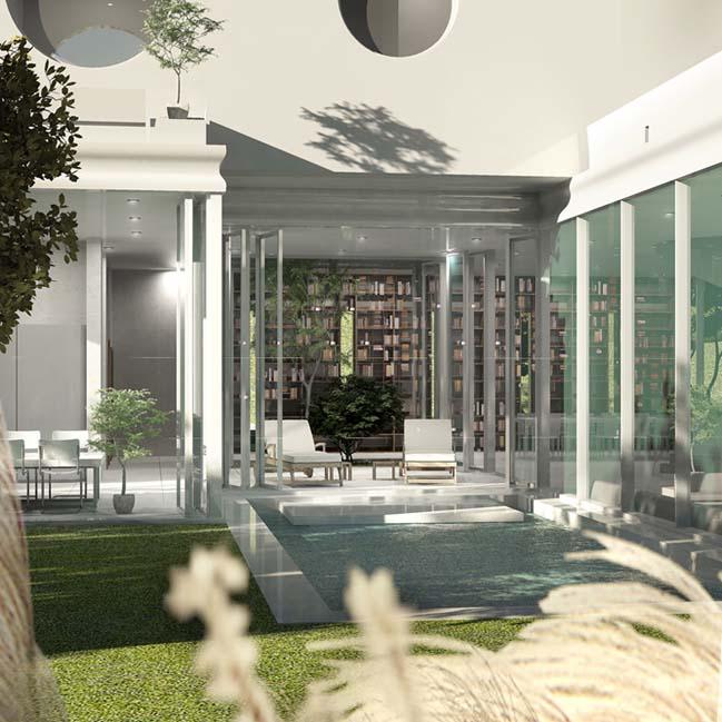biet thu dep 09 Thiết kế biệt thự đẹp sang trọng với kiến trúc bán mở