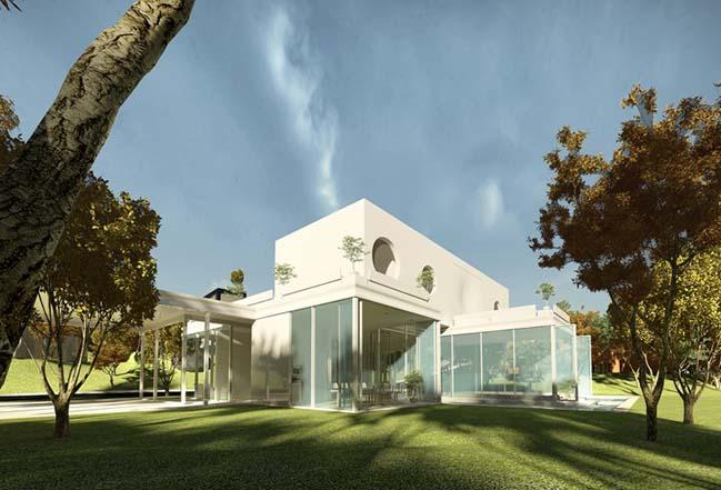 biet thu dep 10 Thiết kế biệt thự đẹp sang trọng với kiến trúc bán mở