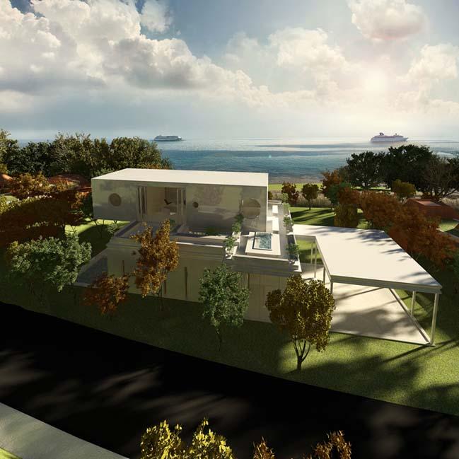 biet thu dep 11 Thiết kế biệt thự đẹp sang trọng với kiến trúc bán mở