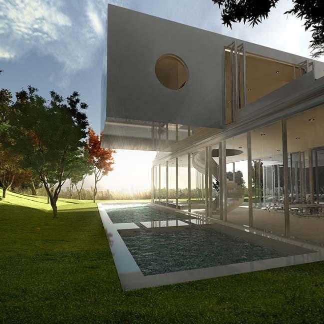 biet thu dep 12 Thiết kế biệt thự đẹp sang trọng với kiến trúc bán mở