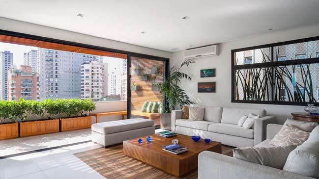 Thiết kế nhà đẹp với không gian xanh trên sân thượng