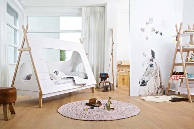 Tô điểm phòng ngủ của bé với những chiế lều xinh xắn