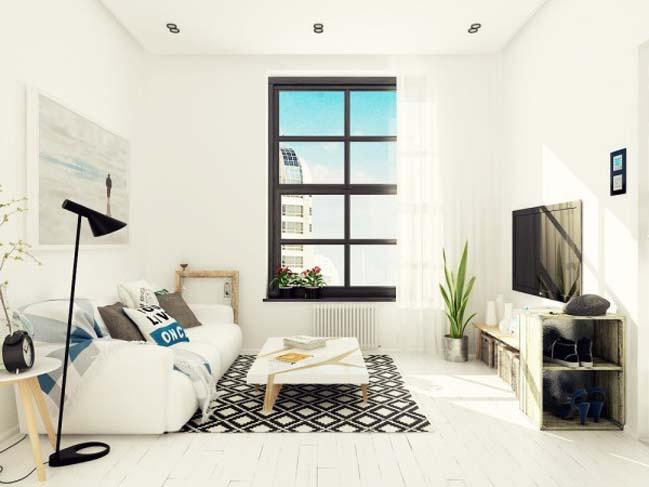 Thiết kế căn hộ nhỏ 34m2 ngập tràn ánh sáng