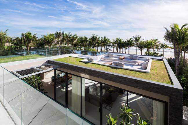 Biệt thự đẹp với không gian giải trí trên mái