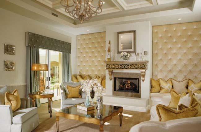 12 thiết kế nội thất phòng khách với màu vàng sang trọng