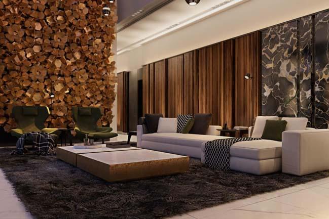 Mẫu thiết kế biệt thự sang trọng với nội thất gỗ