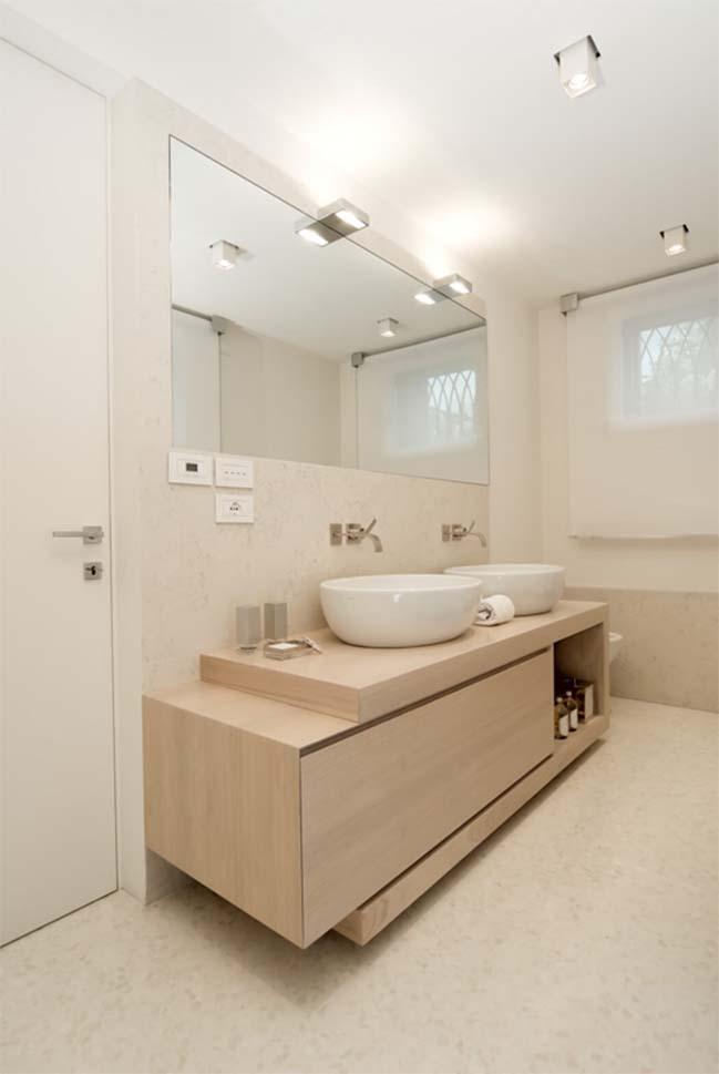 Mẫu nhà đẹp 2 tầng với tông màu trắng sang trọng