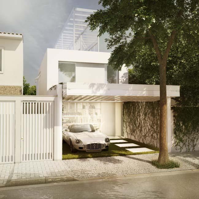 Thiết kế nhà đẹp với nhà kính trên sân thượng