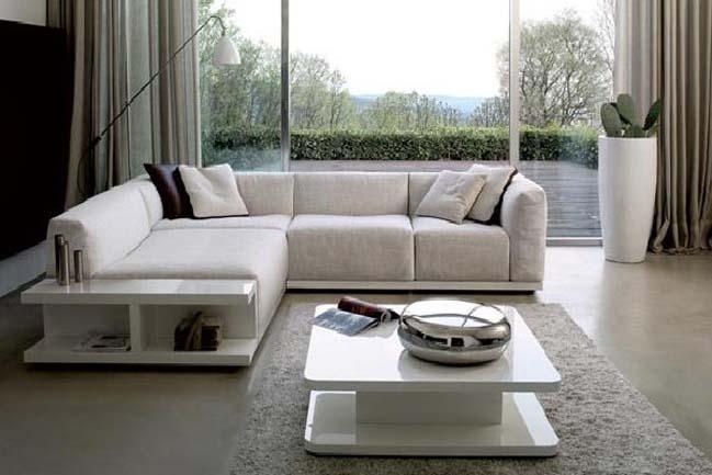 16 mẫu phòng khách đẹp với bộ ghế sofa hình chữ L