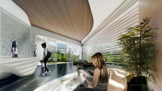 Thiết kế kiến trúc tổ ong độc đáo của Zaha Hadid