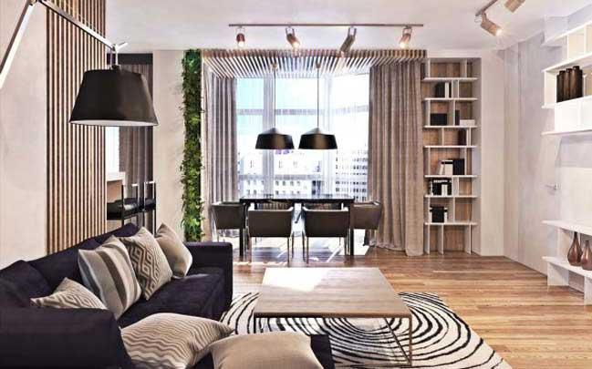Căn hộ với thiết kế nội thất đương đại ấm cúng