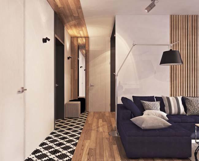 thiet ke noi that can ho 02 Tham quan căn hộ với thiết kế nội thất đương đại ấm cúng