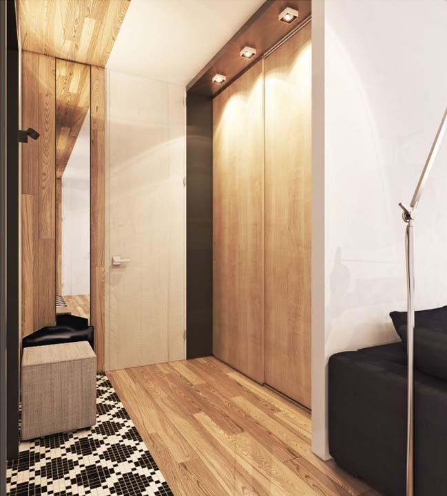 thiet ke noi that can ho 03 Tham quan căn hộ với thiết kế nội thất đương đại ấm cúng
