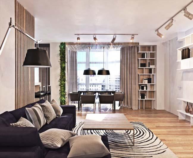 thiet ke noi that can ho 04 Tham quan căn hộ với thiết kế nội thất đương đại ấm cúng
