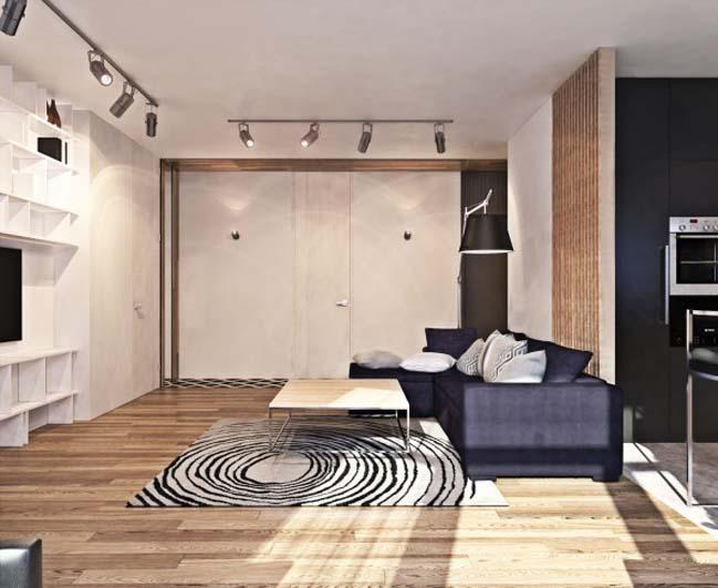 thiet ke noi that can ho 05 Tham quan căn hộ với thiết kế nội thất đương đại ấm cúng