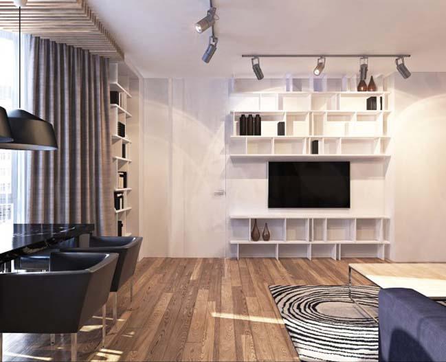 thiet ke noi that can ho 06 Tham quan căn hộ với thiết kế nội thất đương đại ấm cúng