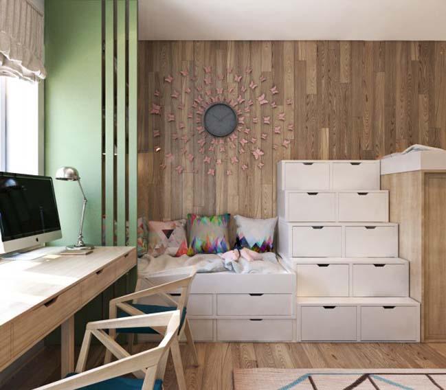 thiet ke noi that can ho 07 Tham quan căn hộ với thiết kế nội thất đương đại ấm cúng