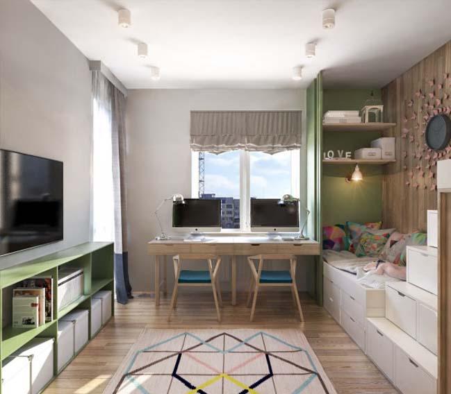 thiet ke noi that can ho 08 Tham quan căn hộ với thiết kế nội thất đương đại ấm cúng