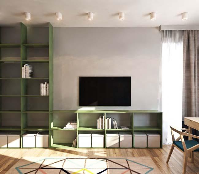 thiet ke noi that can ho 09 Tham quan căn hộ với thiết kế nội thất đương đại ấm cúng