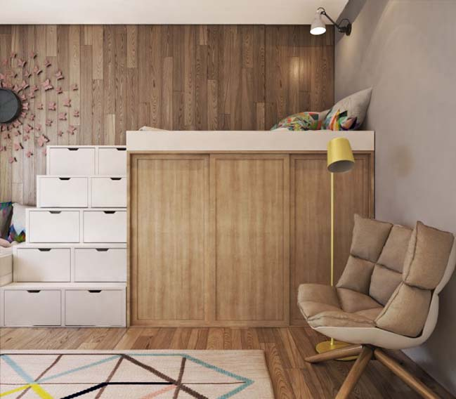 thiet ke noi that can ho 11 Tham quan căn hộ với thiết kế nội thất đương đại ấm cúng