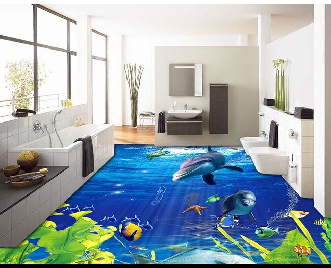 Tô điểm không gian với tranh sàn 3D