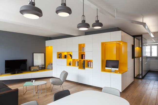 Căn hộ 2 phòng ngủ với thiết kế nội thất ấm áp