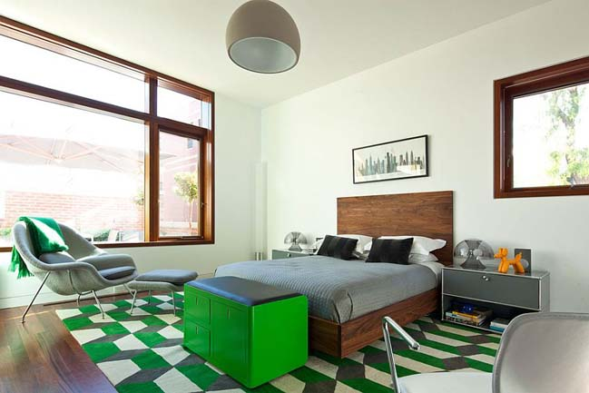 14 mẫu phòng ngủ đẹp với điểm nhấn màu xanh lá