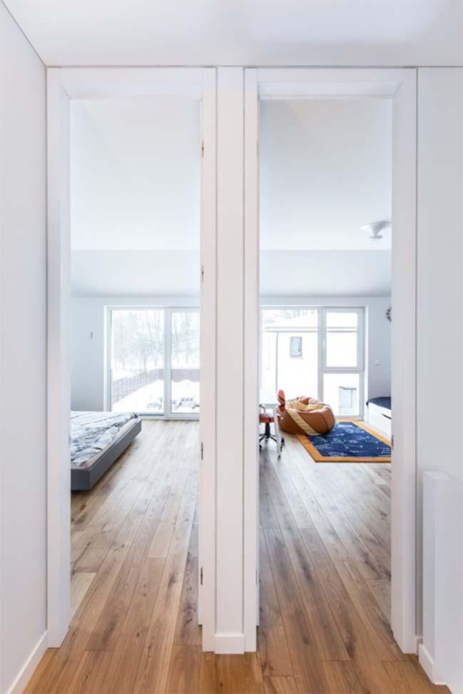 Mẫu nhà đẹp 2 tầng với không gian trắng sáng