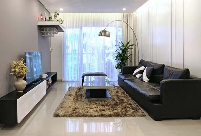 Căn hộ cao cấp 3 phòng ngủ với 2 màu trắng đen