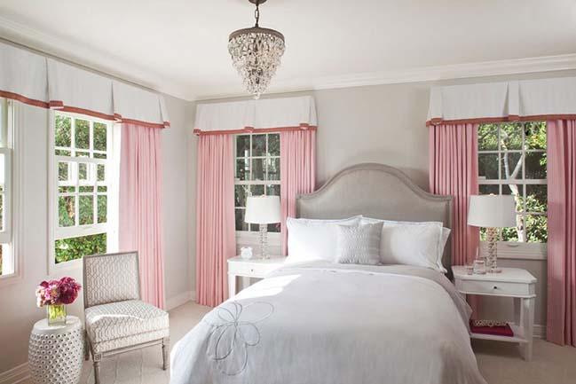 15 mẫu phòng ngủ đẹp với tông màu xám và hồng