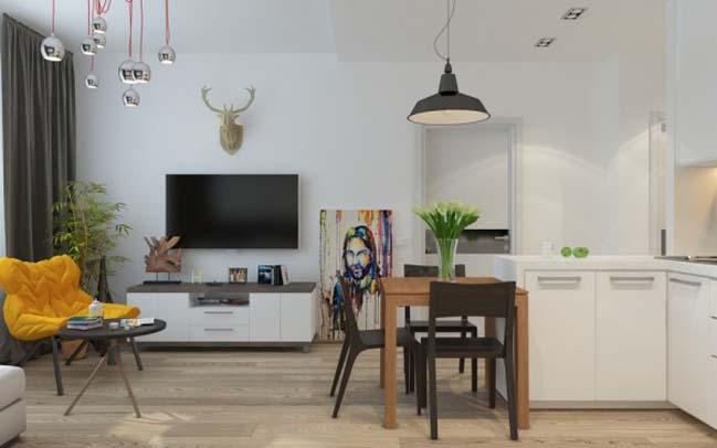 can ho chung cu 02 Gợi ý thiết kế nội thất căn hộ 45m2 đẹp gọn gàng