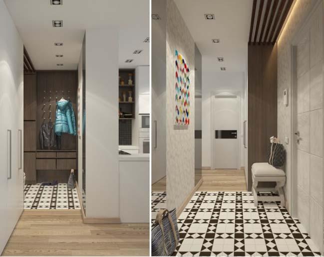 can ho chung cu 04 Gợi ý thiết kế nội thất căn hộ 45m2 đẹp gọn gàng