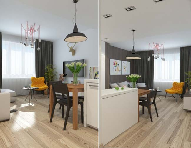 can ho chung cu 05 Gợi ý thiết kế nội thất căn hộ 45m2 đẹp gọn gàng