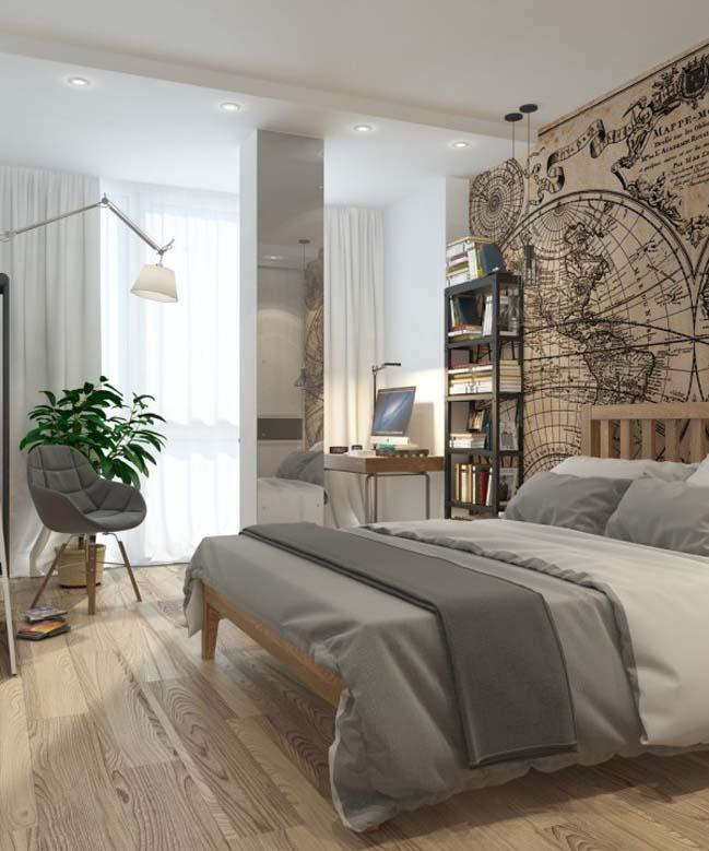 can ho chung cu 06 Gợi ý thiết kế nội thất căn hộ 45m2 đẹp gọn gàng