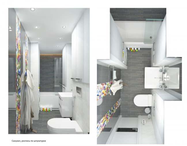can ho chung cu 08 Gợi ý thiết kế nội thất căn hộ 45m2 đẹp gọn gàng
