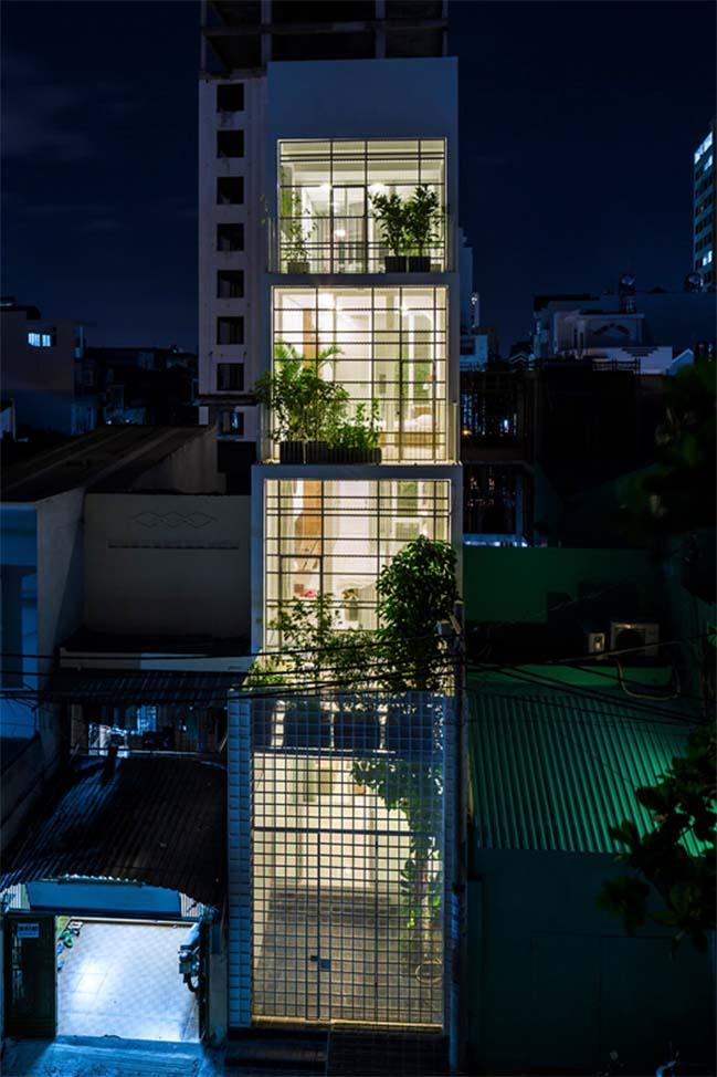 Nhà phố đẹp với thiết kế thông thoáng