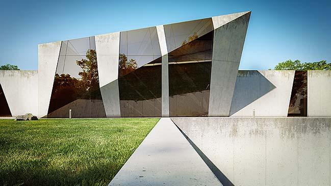 nha dep 02 Tham quan ngôi nhà đẹp với thiết kế độc đáo giữa bê tông và kính