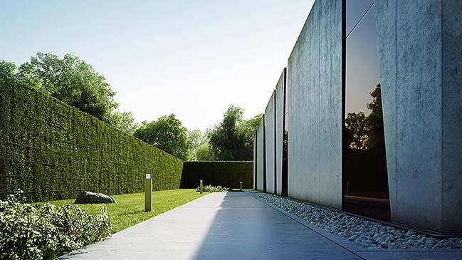 nha dep 03 Tham quan ngôi nhà đẹp với thiết kế độc đáo giữa bê tông và kính