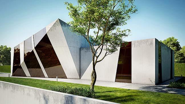 nha dep 04 Tham quan ngôi nhà đẹp với thiết kế độc đáo giữa bê tông và kính
