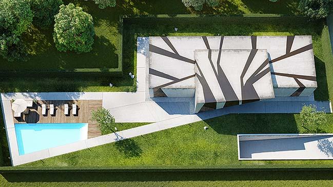 nha dep 05 Tham quan ngôi nhà đẹp với thiết kế độc đáo giữa bê tông và kính
