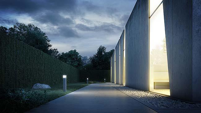 nha dep 08 Tham quan ngôi nhà đẹp với thiết kế độc đáo giữa bê tông và kính