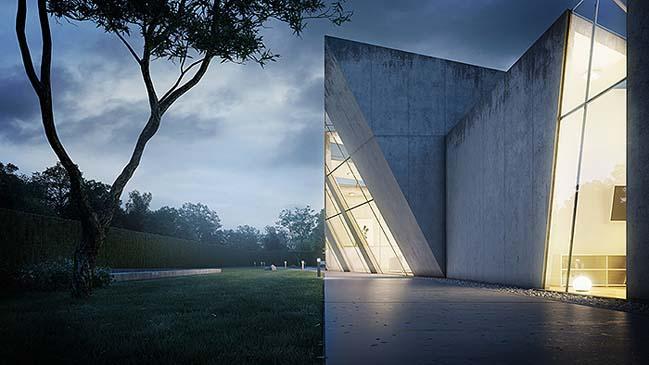nha dep 09 Tham quan ngôi nhà đẹp với thiết kế độc đáo giữa bê tông và kính
