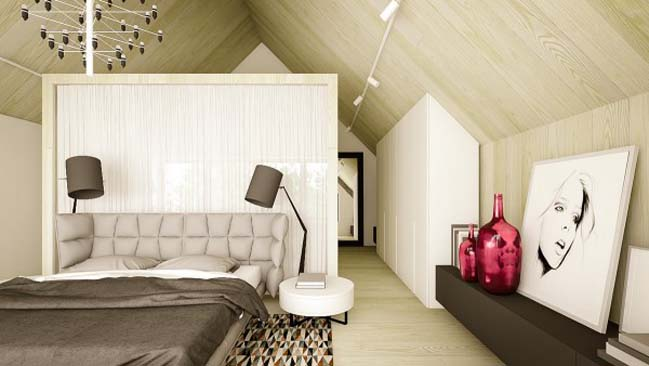 Mẫu nhà đẹp với thiết kế nội thất phá cách