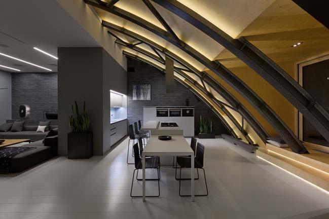 can ho chung cu 02 Tham quan căn hộ sang trọng với kiến trúc mái vòm độc đáo