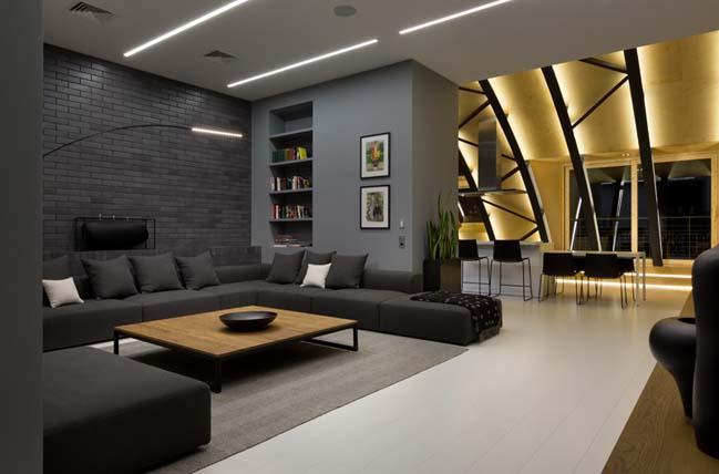 can ho chung cu 06 Tham quan căn hộ sang trọng với kiến trúc mái vòm độc đáo