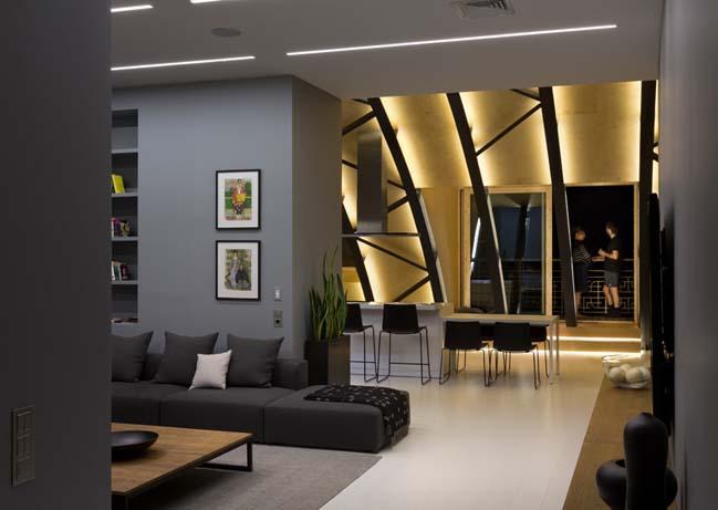 can ho chung cu 07 Tham quan căn hộ sang trọng với kiến trúc mái vòm độc đáo